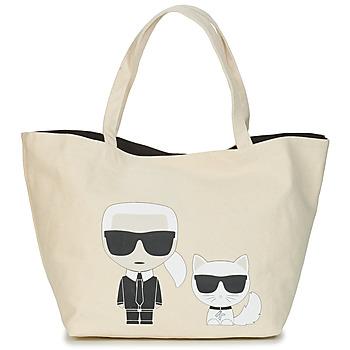Väskor Dam Shoppingväskor Karl Lagerfeld K/IKONIK KARL & CHOUPETTE TOTE Svart