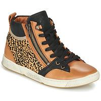 Skor Dam Höga sneakers Pataugas JULIA/PO F4F Cognac / Leopard