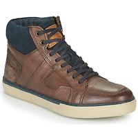 Skor Herr Höga sneakers Redskins CIZAIN Brun