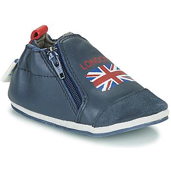 Skor Barn Tofflor Robeez LONDON FLAG Marin