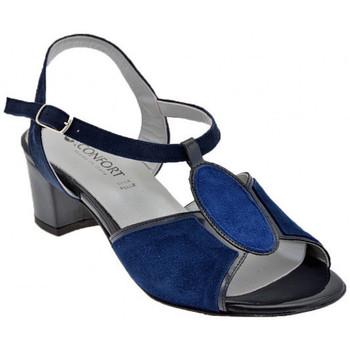 Skor Dam Sandaler Confort  Blå