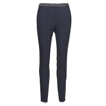 textil Dam 5-ficksbyxor Karl Lagerfeld PUNTO PANTS W/ LOGO TAPE Marin / Svart