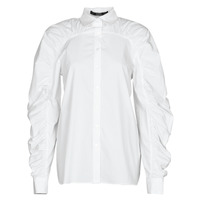 textil Dam Skjortor / Blusar Karl Lagerfeld POPLIN BLOUSE W/ GATHERING Vit