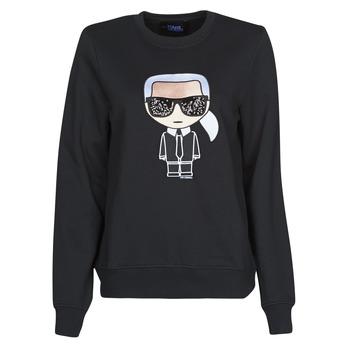 textil Dam Sweatshirts Karl Lagerfeld IKONIK KARL SWEATSHIRT Svart