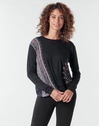 textil Dam Långärmade T-shirts Desigual MARSELLA Marin
