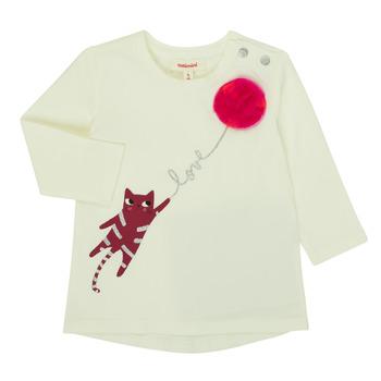 textil Flickor Långärmade T-shirts Catimini CR10063-11 Rosa