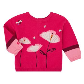 textil Flickor Koftor / Cardigans / Västar Catimini CR18033-35 Rosa