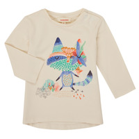 textil Flickor Långärmade T-shirts Catimini CR10053-12 Vit