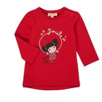 textil Flickor Långärmade T-shirts Catimini CR10043-38 Röd