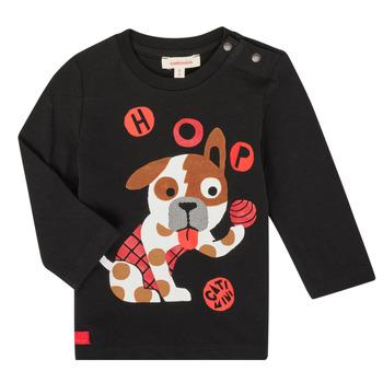 textil Pojkar Långärmade T-shirts Catimini CR10022-02 Svart