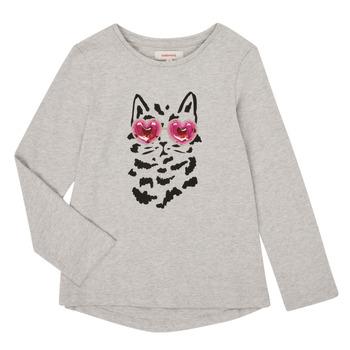 textil Flickor Långärmade T-shirts Catimini CR10275-26-J Grå
