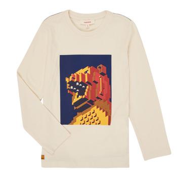 textil Pojkar Långärmade T-shirts Catimini CR10064-17-C Vit