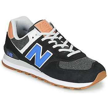 Skor Herr Sneakers New Balance 574 Svart / Blå