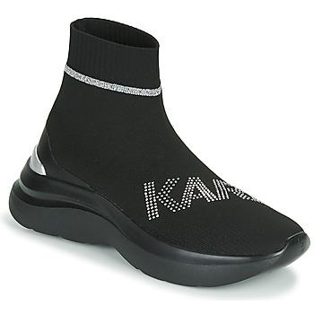 Skor Dam Höga sneakers Karl Lagerfeld SKYLINE KARL RHINESTONE PULL ON BT Svart