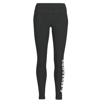 textil Dam Leggings Converse CONVERSE WOMENS WORDMARK LEGGING Svart