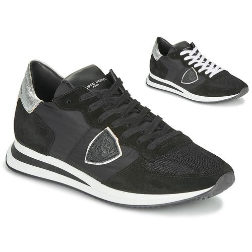 Skor Dam Sneakers Philippe Model TROPEZ X BASIC Svart / Silverfärgad