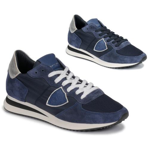 Skor Dam Sneakers Philippe Model TROPEZ Marin