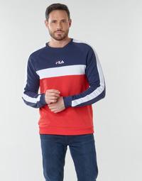 textil Herr Sweatshirts Fila CREW SWEATER Blå / Vit / Röd