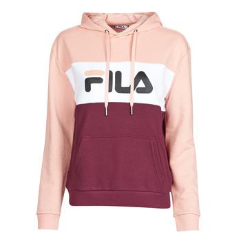 textil Dam Sweatshirts Fila LORI HOODY Rosa / Vit