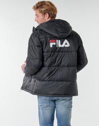 textil Herr Täckjackor Fila SCOOTER PUFFER JACKET Svart