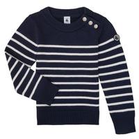 textil Barn Tröjor Petit Bateau LOX Marin / Vit