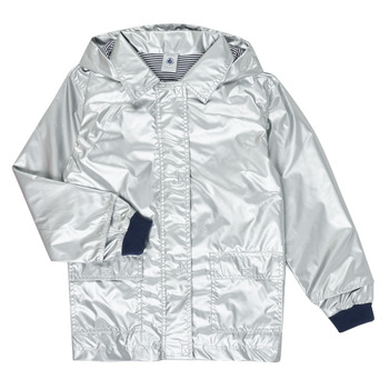 textil Flickor Parkas Petit Bateau LAETICIA Silverfärgad