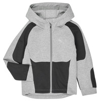 textil Pojkar Sweatshirts Puma EVOSTRIPE HOODED JACKET Grå