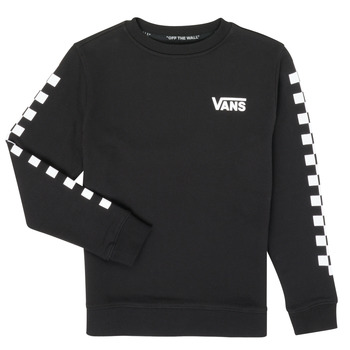 textil Barn Sweatshirts Vans EXPOSITION CHECK CREW Svart