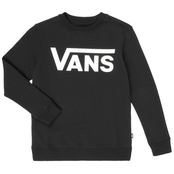 textil Pojkar Sweatshirts Vans VANS CLASSIC CREW Svart