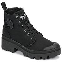 Skor Dam Boots Palladium PALLABASE TWILL Svart