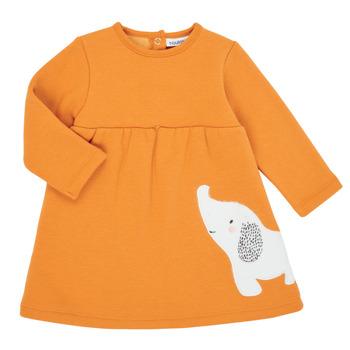 textil Flickor Korta klänningar Noukie's Z050083 Orange