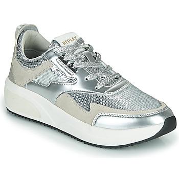 Skor Dam Sneakers Replay FLOW CREATION Silverfärgad