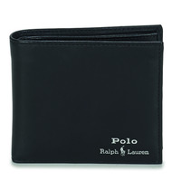 Väskor Herr Plånböcker Polo Ralph Lauren GLD FL BFC-WALLET-SMOOTH LEATHER Svart