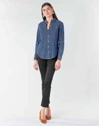 textil Dam Raka byxor Lauren Ralph Lauren PRM STRAIGHT Svart