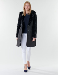 textil Dam Kappor Lauren Ralph Lauren COMBO FX SH-COAT Svart