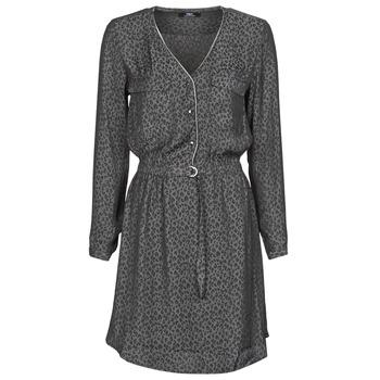 textil Dam Korta klänningar Le Temps des Cerises RABA Grå / Svart