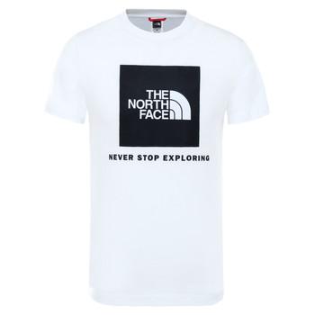 textil Barn T-shirts The North Face BOX TEE SUMMIT Vit