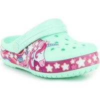 Skor Barn Träskor Crocs Funlab Unicorn Band CG K 206270-3TI green, purple