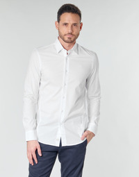 textil Herr Långärmade skjortor G-Star Raw DRESSED SUPER SLIM SHIRT LS Vit