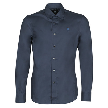 textil Herr Långärmade skjortor G-Star Raw DRESSED SUPER SLIM SHIRT LS Blå