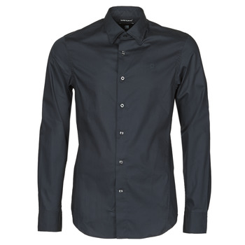 textil Herr Långärmade skjortor G-Star Raw DRESSED SUPER SLIM SHIRT LS Svart