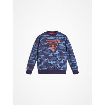 textil Pojkar Sweatshirts Guess L0YQ01-K82T0-PC74 Blå
