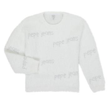 textil Flickor Tröjor Pepe jeans AUDREY Vit