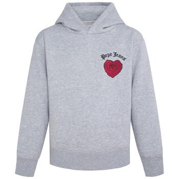 textil Flickor Sweatshirts Pepe jeans NONI Grå