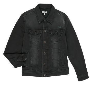 textil Pojkar Jeansjackor Pepe jeans LEGENDARY Svart
