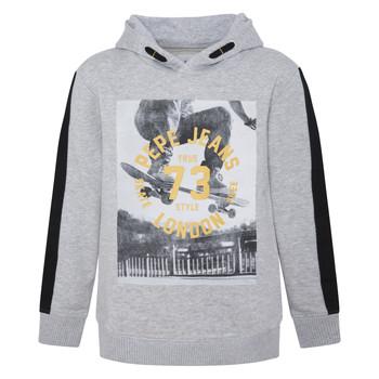 textil Pojkar Sweatshirts Pepe jeans GEOFF Grå