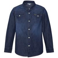 textil Pojkar Långärmade skjortor Pepe jeans JHON Blå