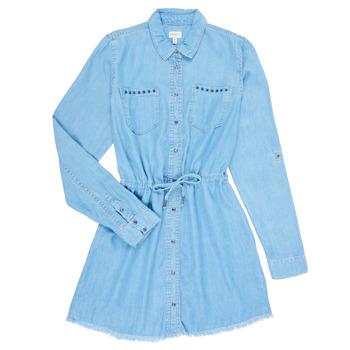 textil Flickor Korta klänningar Pepe jeans ZOEY Blå