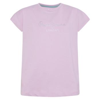 textil Flickor T-shirts Pepe jeans NURIA Blå