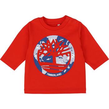 textil Pojkar Långärmade T-shirts Timberland T95889 Röd